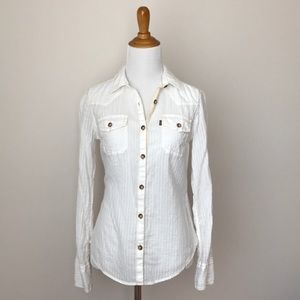 New Levi's Fitted Western Button Down Shirt